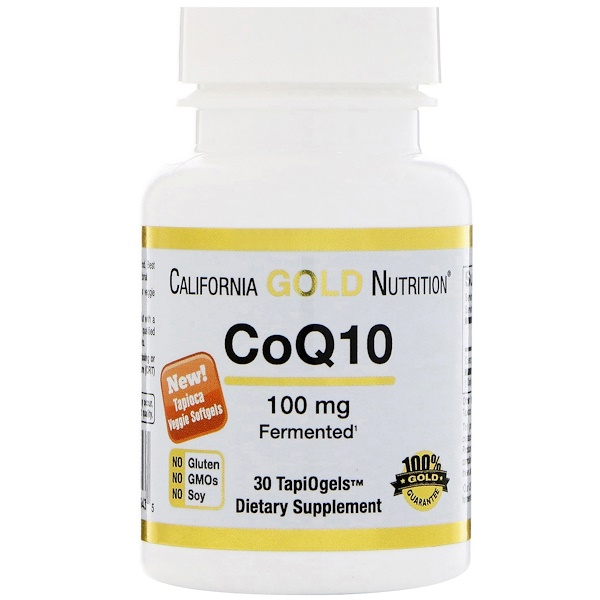 California Gold Nutrition, CoQ10,TapiOgels,100毫克,30蔬菜软胶