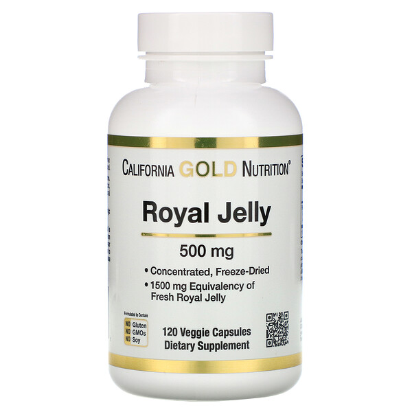 Royal Jelly, Concentrated & Freeze Dried, 500 mg, 120 Veggie Caps