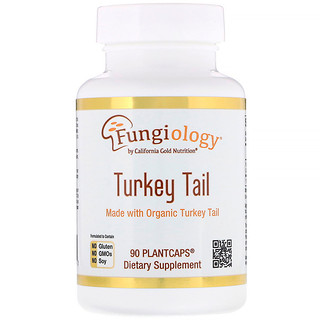 California Gold Nutrition, Fungiology, Full-Spectrum Turkey Tail, 90 Planetcaps