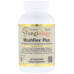California Gold Nutrition, Fungiology,MushRex Plus,全谱蘑菇复合物,有机认证,Immune Assist™微米,120颗植物胶囊