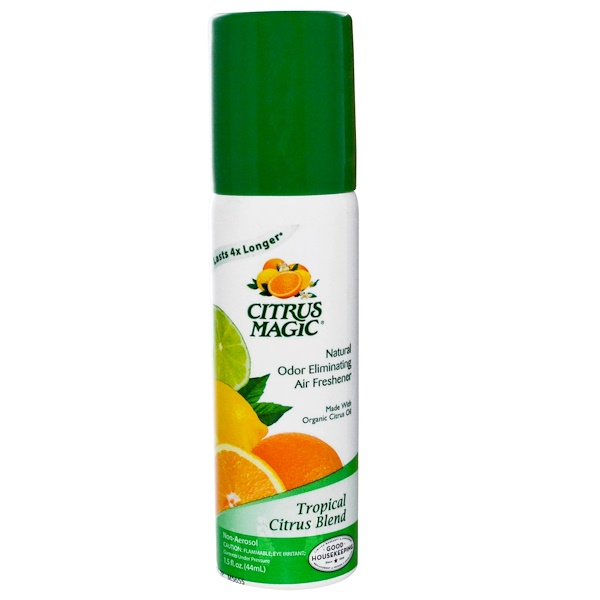 Citrus Magic, Natural Odor Eliminating Air Freshener, Tropical Citrus Blend, 1.5 fl oz (44 ml) (Discontinued Item)