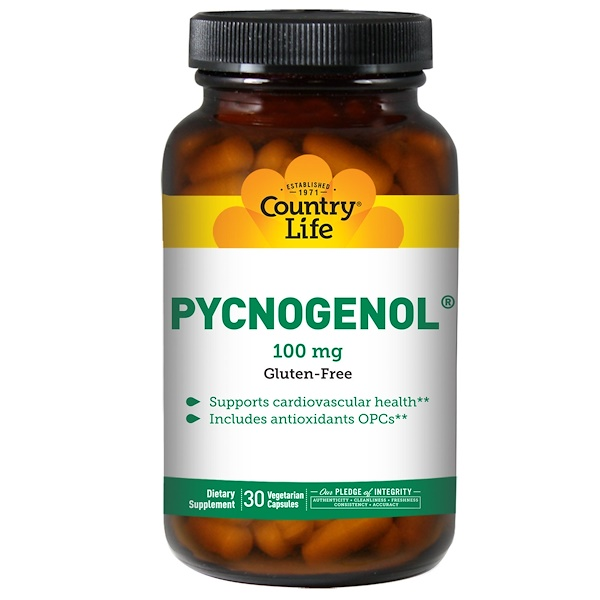Country Life, Pycnogenol,100毫克,30粒