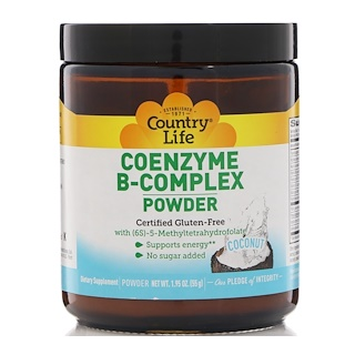 Country Life, CoEnzyme B-Complex Powder, Coconut, 1.95 oz (55 g)