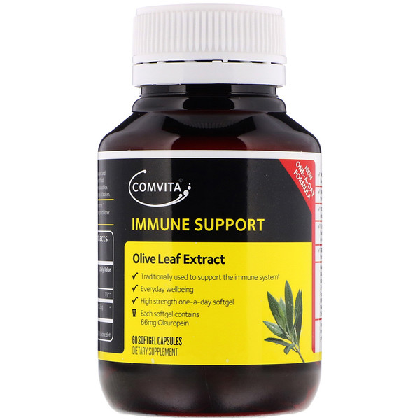 Immune Support, Olive Leaf Extract, 60 Softgel Capsules