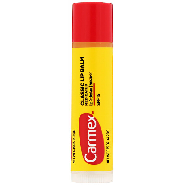 Classic Lip Balm, Medicated, SPF 15, .15 oz (4.25 g)