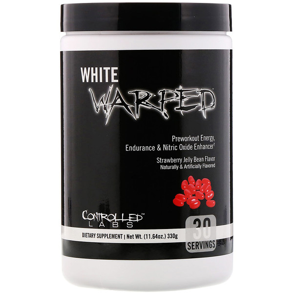 Controlled Labs, White Warped, Preworkout, Strawberry Jelly Bean, 11.64 oz (330 g)