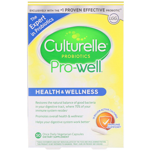 Probiotics, Pro-Well, Health & Wellness, 50 Once Daily Vegetarian Capsules