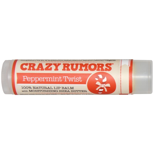 Crazy Rumors, 100% Natural Lip Balm, Peppermint Twist, 0.15 oz (4.4 ml) (Discontinued Item)