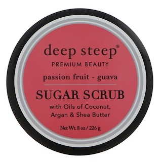 Deep Steep, 糖磨砂,百香果番石榴,8盎司(226 克)