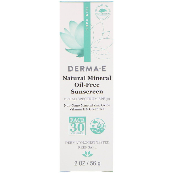 Natural Mineral Oil-Free Sunscreen, SPF 30, 2 oz (56 g)