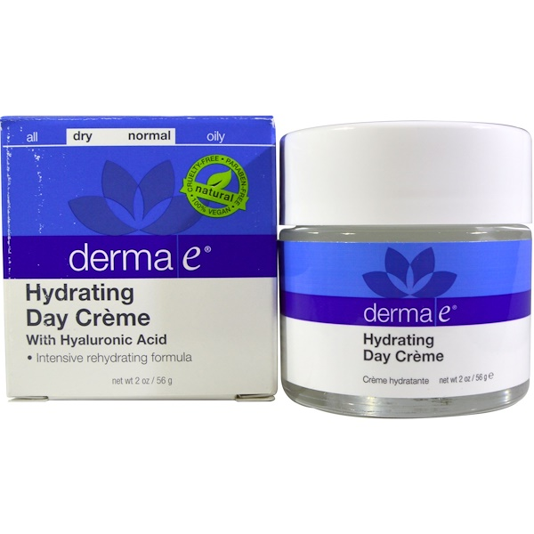 Derma E, Hydrating Day Cream, With Hyaluronic Acid, 2 oz (56 g)