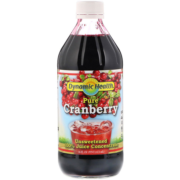 Pure Cranberry, 全 Juice Concentrate, Unsweetened, 16 fl oz (473 ml)