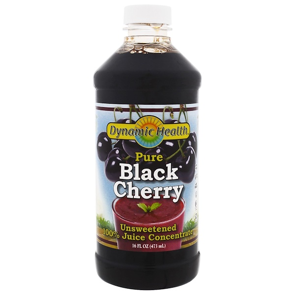 Pure Black Cherry, 全 Juice Concentrate, Unsweetened, 16 fl oz (473 ml)