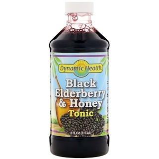 Dynamic Health  Laboratories, Black Elderberry & Honey Tonic, 8 fl oz (237 ml)