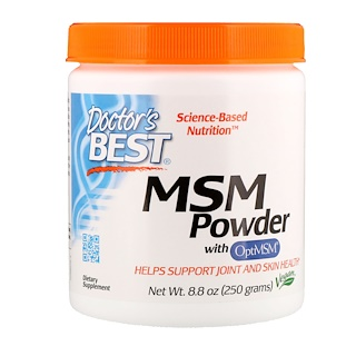 Doctor's Best, MSM粉末与OptiMSM,8.8盎司(250克)