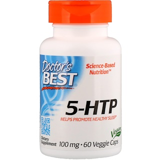 Doctor's Best, Best 5-HTP, 100 mg, 60 粒 素食