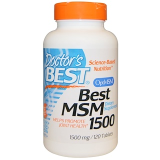 Doctor's Best, Best MSM 1500,1500 毫克,120 片