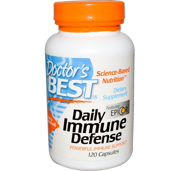 Doctor's Best, Daily Immune Defense, 120 Capsules (Discontinued Item)