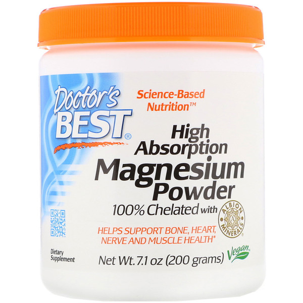 High Absorption Magnesium Powder 全 Chelated with Albion Minerals, 7.1 oz (200 g)
