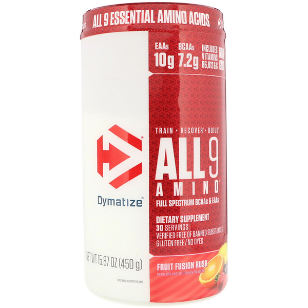 Dymatize Nutrition, All 9 Amino,什锦果味,15.87 (450克)