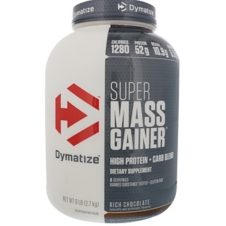 Dymatize Nutrition, Super Mass Gainer, 富含巧克力, 6 lbs (2.7 kg)