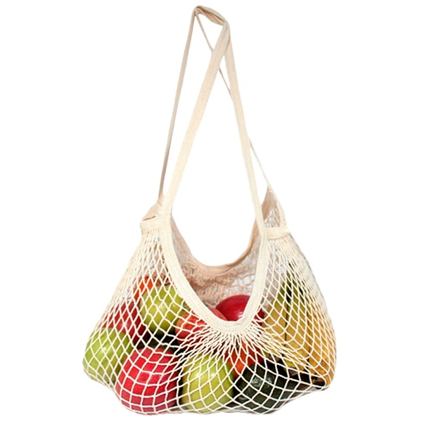 ECOBAGS, Classic String Shopping Bag, Assorted Pastels Colors, 1 Bag (Discontinued Item)