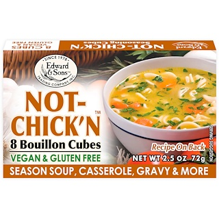 Edward & Sons, Edward & Sons, Not-Chick'n, Bouillon Cubes, 8 Cubes
