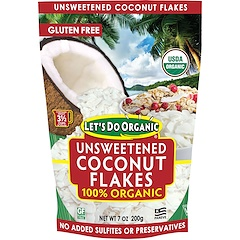 Edward & Sons, 100% Organic Unsweetened Coconut Flakes, 7 oz (200 g)