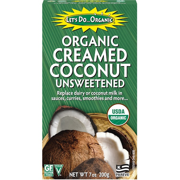 Edward & Sons, Edward & Sons, Let's Do Organic, Organic Creamed Coconut, Unsweetened, 7 oz (200 g)