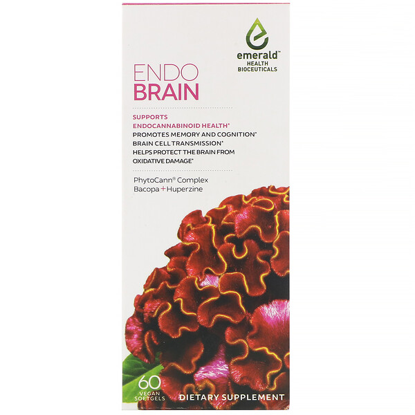 EndoBrain, 60 Vegan Softgels