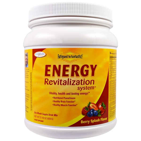 Enzymatic Therapy, Fatigued to Fantastic!能源新生系统(Energy Revitalization System),浆果味,21.48盎司(609克)