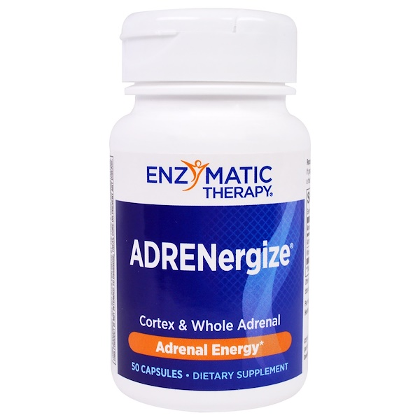 Enzymatic Therapy, ADRENergize,能量,50 粒胶囊