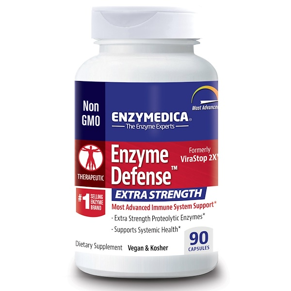 Enzymedica, Enzyme Defense,额外力量,90 粒胶囊