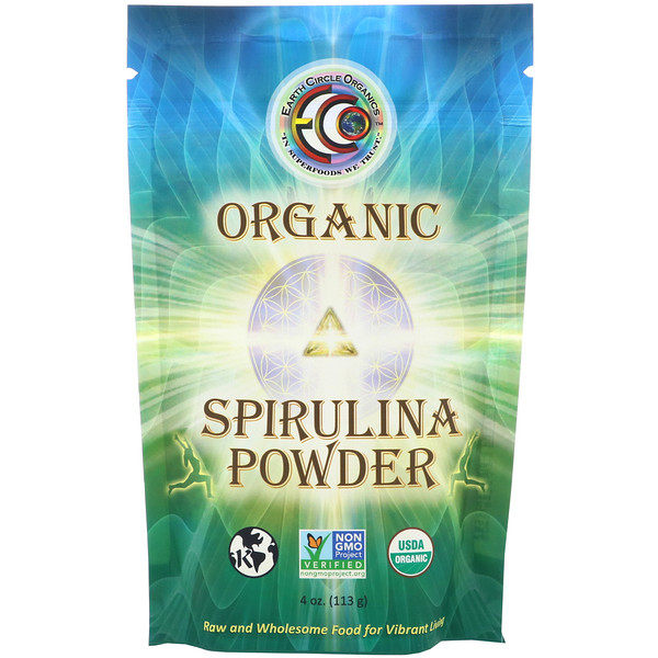 Organic Spirulina Powder, 4 oz (113 g)