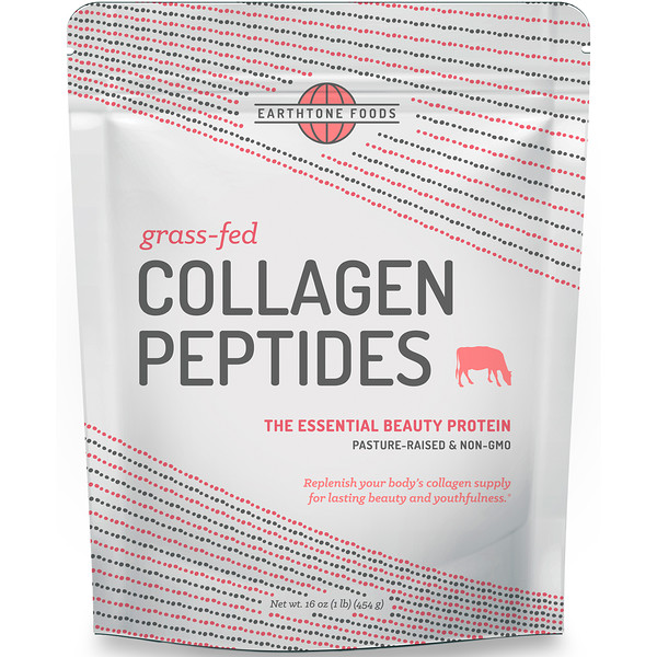 Earthtone Foods, Grass-Fed Collagen Peptides, 16 oz (454 g)