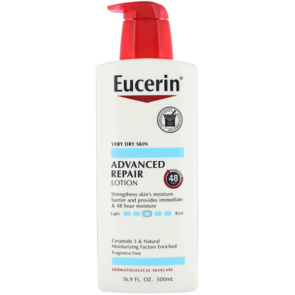Eucerin, Advanced Repair Lotion, Fragrance Free, 16.9 fl oz (500 ml)
