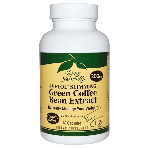 EuroPharma, Terry Naturally, Svetol Slimming Green Coffee Bean Extract, 200 mg, 60 Capsules (Discontinued Item)
