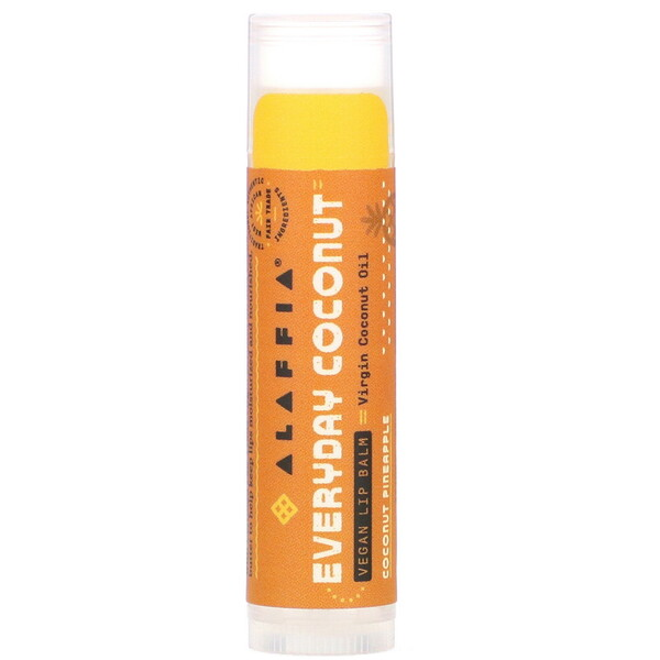 Everyday Coconut, Ethically Traded Lip Balm, Coconut Pineapple, 0.15 oz (4.25 g)