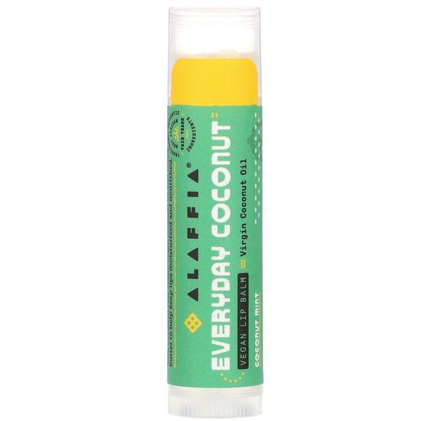 Ethically Traded Lip Balm, Coconut Mint, 0.15 oz (4.25 g)