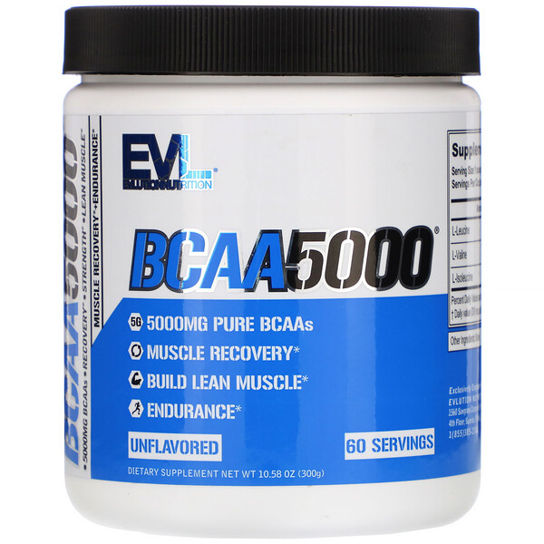 BCAA 5000, Unflavored, 10.58 oz (300 g)