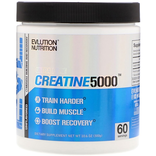 EVLution Nutrition, Creatine5000, Unflavored, 10.6 oz (300 g)
