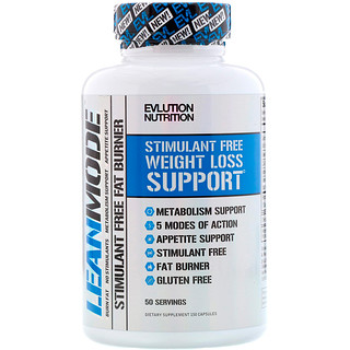 EVLution Nutrition, Lean Mode, Stimulant-Free Fat Burner Supplement, 150 Capsules