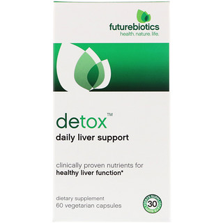 FutureBiotics, 排毒,日常肝支持,60 粒素食胶囊