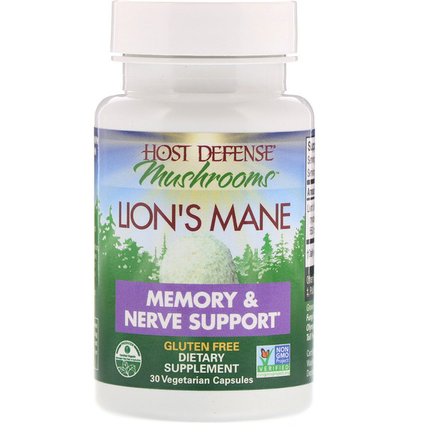 Lion's Mane, Memory & Nerve Support, 30 Vegetarian Capsules
