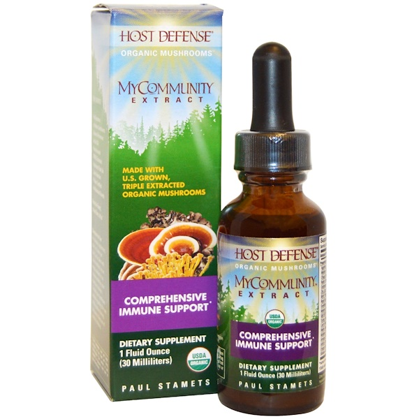 Fungi Perfecti, MyCommunity Extract, Comprehensive Immune Support , 1 fl oz (30 ml)