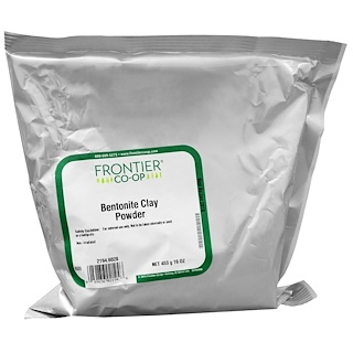 Frontier Natural Products, 膨润土粉末,16盎司(453克)