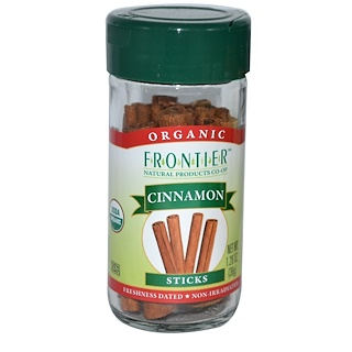 Frontier Natural Products, 有机肉桂棒,1.28盎司(36克)