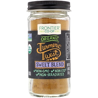 Frontier Natural Products, Organic Turmeric Twist, Sweet Blend, 1.80 oz (51 g)