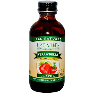 Frontier Natural Products, 草莓味,不含酒精,2液体盎司(59毫升)