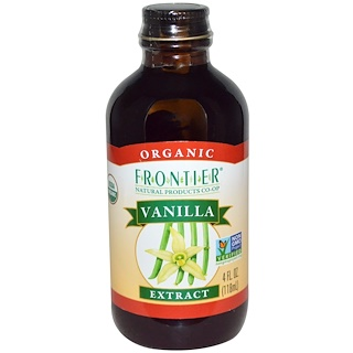 Frontier Natural Products, 有机,香草精,4液体盎司(118毫升)